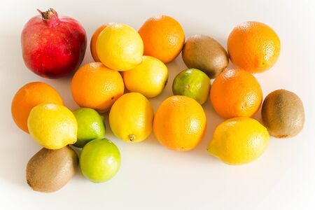 Fresh fruits on the light table Stock Photo