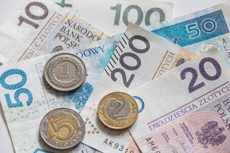 polish: Polish money  gold Stock Photo
