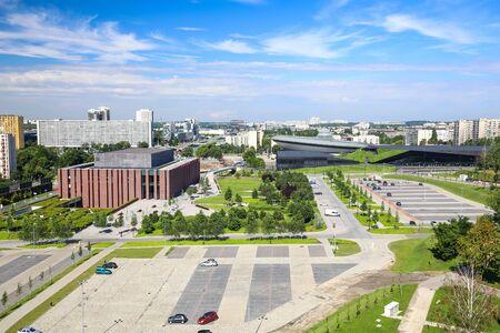 View of the Katowice city panorama  landscape Zdjęcie Seryjne