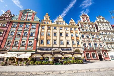 renovated: Wroclaw  historical architecture of the marketplace