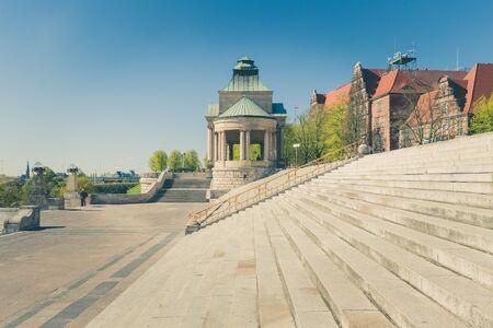 Szczecin - historical architecture  Haken terraces, vintage effect