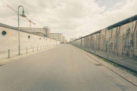 Berlin historical wall dividing the Germany