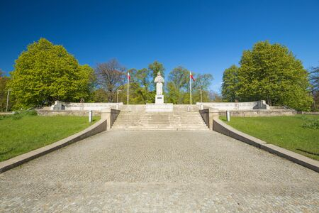 Szczecin  monument to the poet Mickiewicz Imagens