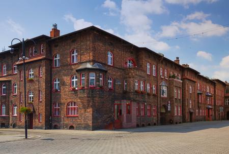 Katowice in Poland, traditional buildings of the Nikiszowiec district Zdjęcie Seryjne - 81190489