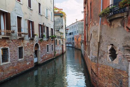 Venice  View of the river and historical architecture Stock Photo