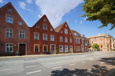 Potsdam im Germany, Dutch Quarter (Hollandisches Viertel) traditional architecture
