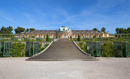 Historic gardens and palace Sanssouci, architecture in Potsdam