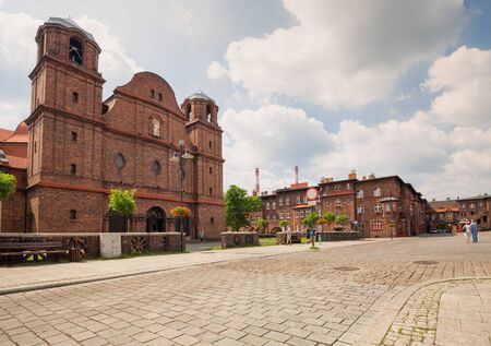 Katowice / Historical  district and church traditional Silesia architecture Zdjęcie Seryjne - 84567889