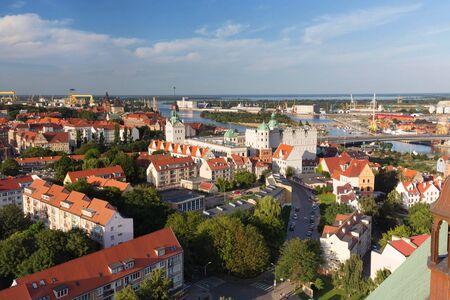 Szczecin in Poland  panorama view