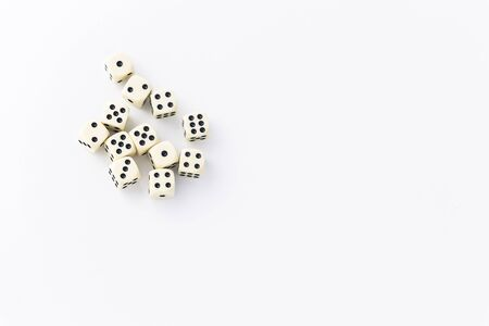 dice scattered on a light background