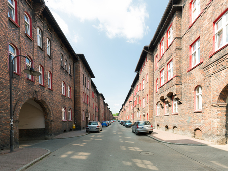 Katowice  Nikiszowiec Historical mining district and traditional architecture  june 2017