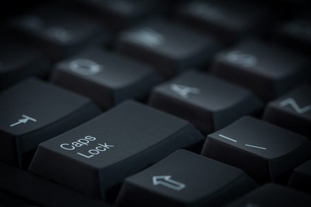 computer keyboard with a characteristic Caps lock key Reklamní fotografie