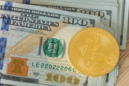 USA dollars and Bitcoin