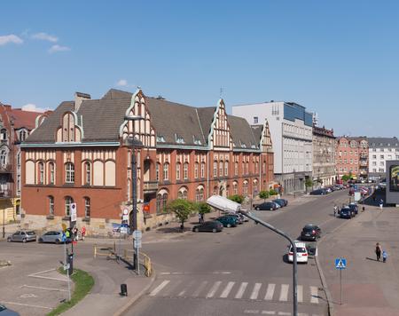 Historic post office building in Zabrze  april 2018 Stock Photo