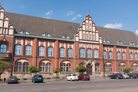 Historic post office building in Zabrze  april 2018 Editorial