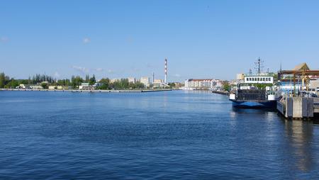 Swinoujscie. View from the port 版權商用圖片