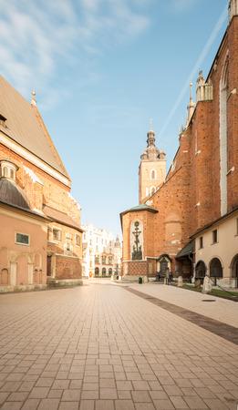 Krakow. Old town square Фото со стока