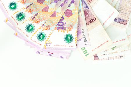 Argentine money, pesos, high denominations Stock Photo