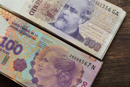 Argentine money, pesos, high denominations