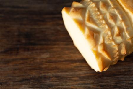 traditional polish highlander sheep cheese, oscypek