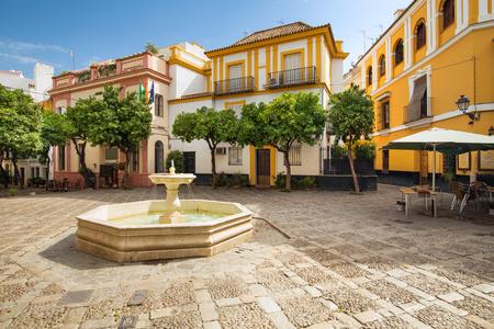 Sevilla, Spanien - Architektur-Barrio Santa Cruz-Viertel Standard-Bild