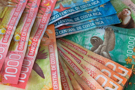 Money from Costa rica / Colones Imagens - 118523994