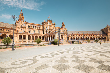 Plaza de Espana in Seville, Andalusia,Spain