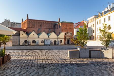 Krakau. Stadtteil Kazimierz der Marktplatz des alten jüdischen Viertels
