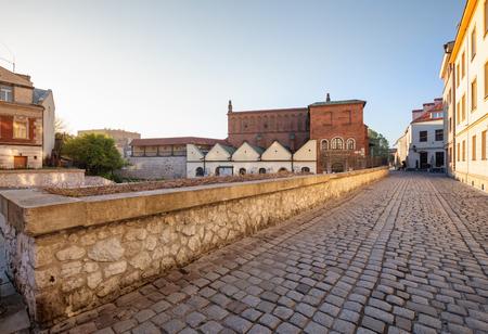 Krakau. Stadtteil Kazimierz der Marktplatz des alten jüdischen Viertels Standard-Bild