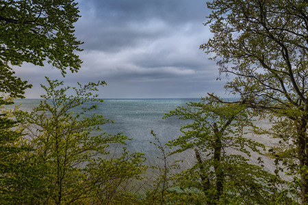 Baltic Sea. View from the Klifs on the island of Rugen, near Sassnitz. Jasmund national park