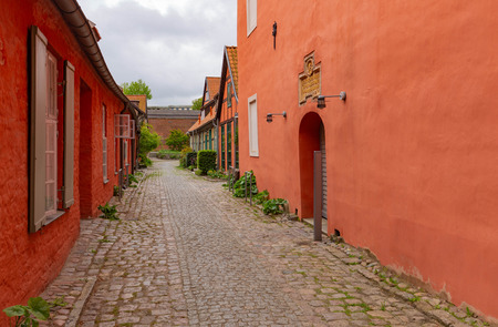 Stralsund in Germany. Historic architecture of the Port city located on the island of Rugen