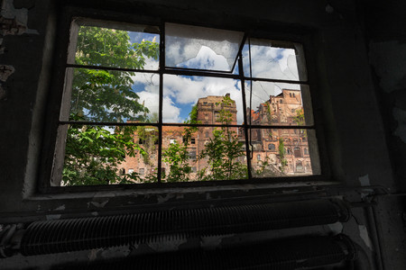Szczecin. Historic factory ruins of old breweries