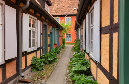 Stralsund. traditional architecture of the city port on the island of Rugen Zdjęcie Seryjne