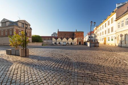 Krakau, Kazimierz-Viertel, historische jüdische Architektur Standard-Bild