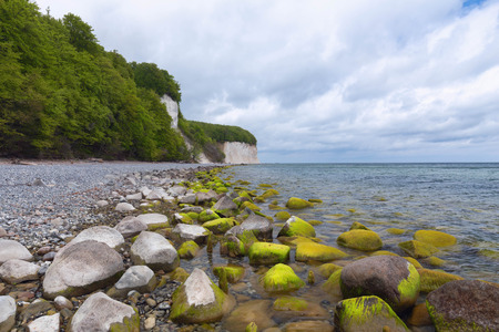 Coastal landscape and Baltic sea in Jasmund national park on the island of Rugen in Germany Zdjęcie Seryjne