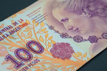 view of the Argentine money, 100 pesos