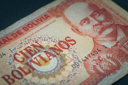 Dinero boliviano, bolivianos, vista de fondo