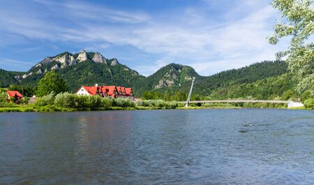 Mountain landscape. Pieniny, Three Crowns Peak on the Dunajec River