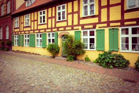 Stralsund. historical architecture of the port city in eastern Germany