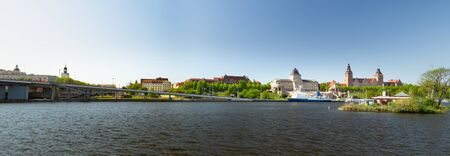 Szczecin, Panorama of the city seen from the other bank of the Odra River