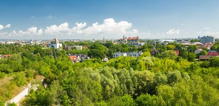Krakow, the green side of the city, Panorama
