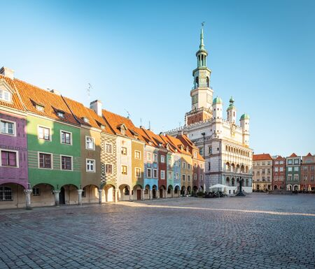 Poznan. Old town Historic tenements and the town hall