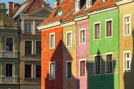 Poznan. Colorful traditional tenements in the old town Standard-Bild