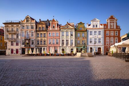 Poznan. Traditional tenements at the Old Town Square Zdjęcie Seryjne