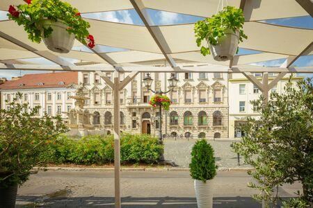 Szczecin. Historic architecture of the White Eagle Square. poland