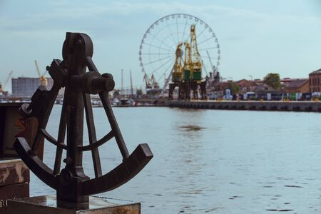 Sextant on the waterfront in Szczecin