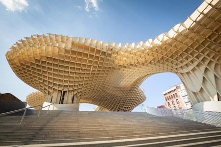 Seville, Spain, Modern architecture be design Jürgen Mayer, Metropol Parasol (Setas de Sevilla) june 2018