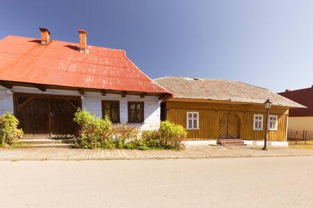 arquitectura histórica tradicional y antigua en el pueblo de Lanckorona, cerca de Cracovia. Polonia