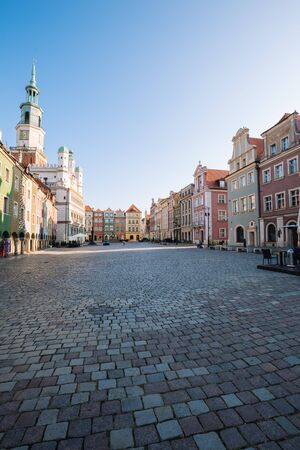 Poznan in Poland. The old town, The main square with Renaissance tenement houses Zdjęcie Seryjne