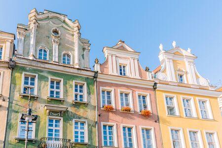 Poznan in Poland. Renaissance tenement houses